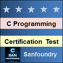 C Programming Certification Test
