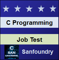 C Programming Job Test