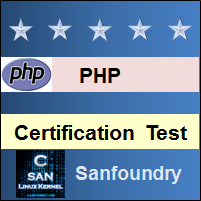 PHP Programming Certification Test