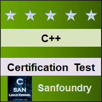 C++ Programming Certification Test