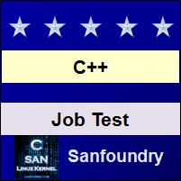 C++ Programming Job Test