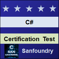 C# Programming Certification Test