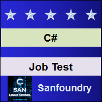 C# Programming Job Test