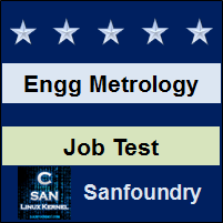 Engineering Metrology Job Test