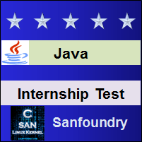 Java Programming Internship Test
