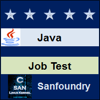 Java Programming Job Test