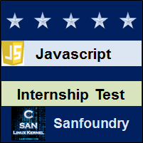 JavaScript Internship Test