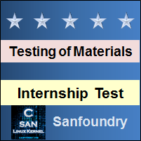 Mechanical Behaviour and Testing of Materials Internship Test