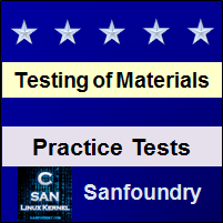 Mechanical Behaviour and Testing of Materials Practice Tests
