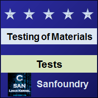 Mechanical Behaviour and Testing of MaterialsTests
