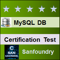 MySQL Certification Test