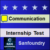 Professional Communication Internship Test