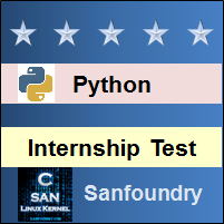 Python Programming Internship Test