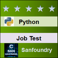 Python Programming Job Test