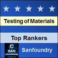 Top Rankers - Mechanical Behaviour and Testing of Materials