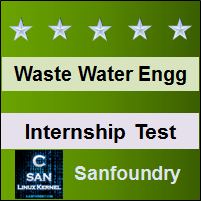 Waste Water Engineering Internship Test