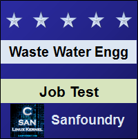 Waste Water Engineering Job Test