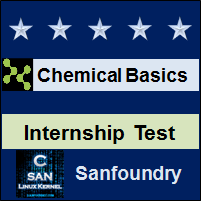 Basic Chemical Engineering Internship Test