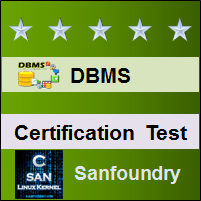 Database Management System Certification Test
