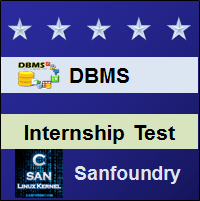 Database Management System Internship Test