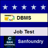 Database Management System Job Test