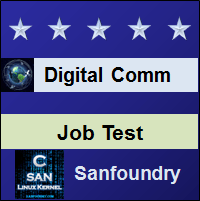 Digital Communications Job Test