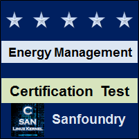 Energy and Environment Management Certification Test