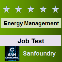 Energy and Environment Management Job Test