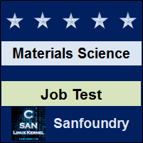 Materials Science Job Test