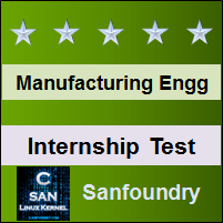 Manufacturing Processes I Internship Test