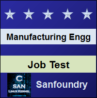 Manufacturing Processes I Job Test