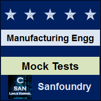 Manufacturing Processes I Mock Tests