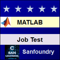 MATLAB Job Test