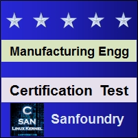 Manufacturing Processes II Certification Test