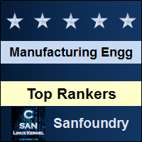 Top Rankers - Manufacturing Processes II