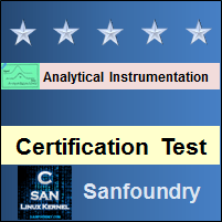 Analytical Instrumentation Certification Test