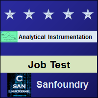 Analytical Instrumentation Job Test