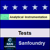 Analytical InstrumentationTests