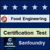 Food Engineering Certification Test