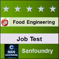 Food Engineering Job Test