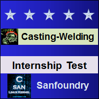 Casting, Forming and Welding I Internship Test