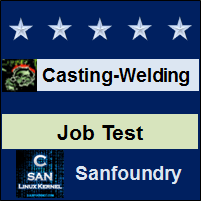 Casting, Forming and Welding I Job Test