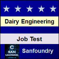 Dairy Engineering Job Test