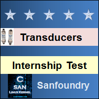 Instrumentation Transducers Internship Test