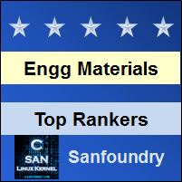 Top Rankers - Engineering Materials and Metallurgy